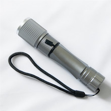 1 pcs High Quality  Tactical 2500LM  Silver  XML Q5  LED Rechargeable 18650  Battery Flashlight  Lamp With Compass  For Outdoor