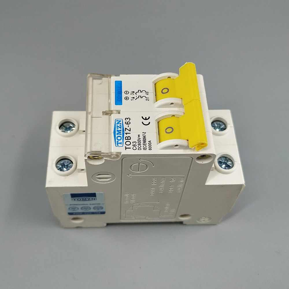 Detail Feedback Questions About 2p Dc 600v Circuit Breaker Mcb C Electronic Fuse For Curve Single Pole Direct Current Pv