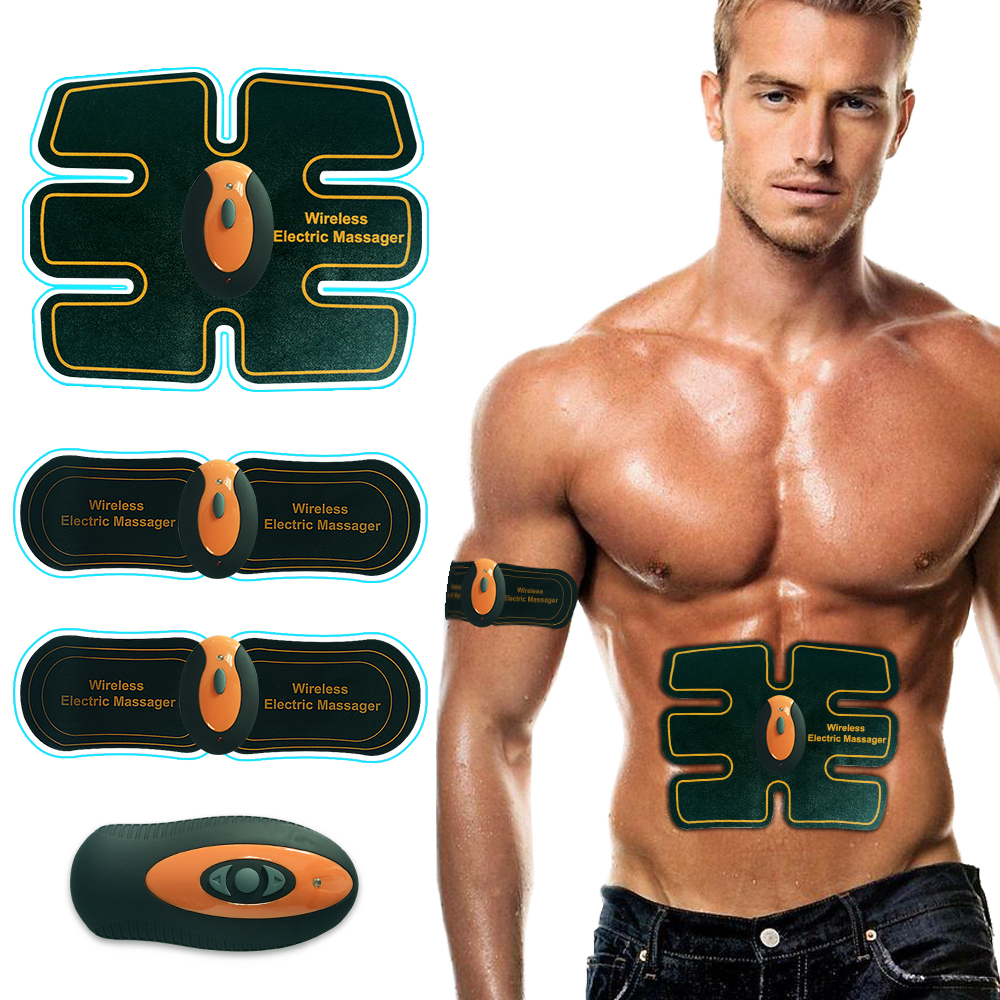 Аккумуляторная мышц живота, тонер Беспроводной Электрический массажер-стимулятор десятки боли в спине помощи ABS строгая EMS мышцы Фитнес