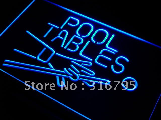 i009 Pool Tables Room LED Neon Light Sign On/Off Switch 20+ Colors 5 Sizes