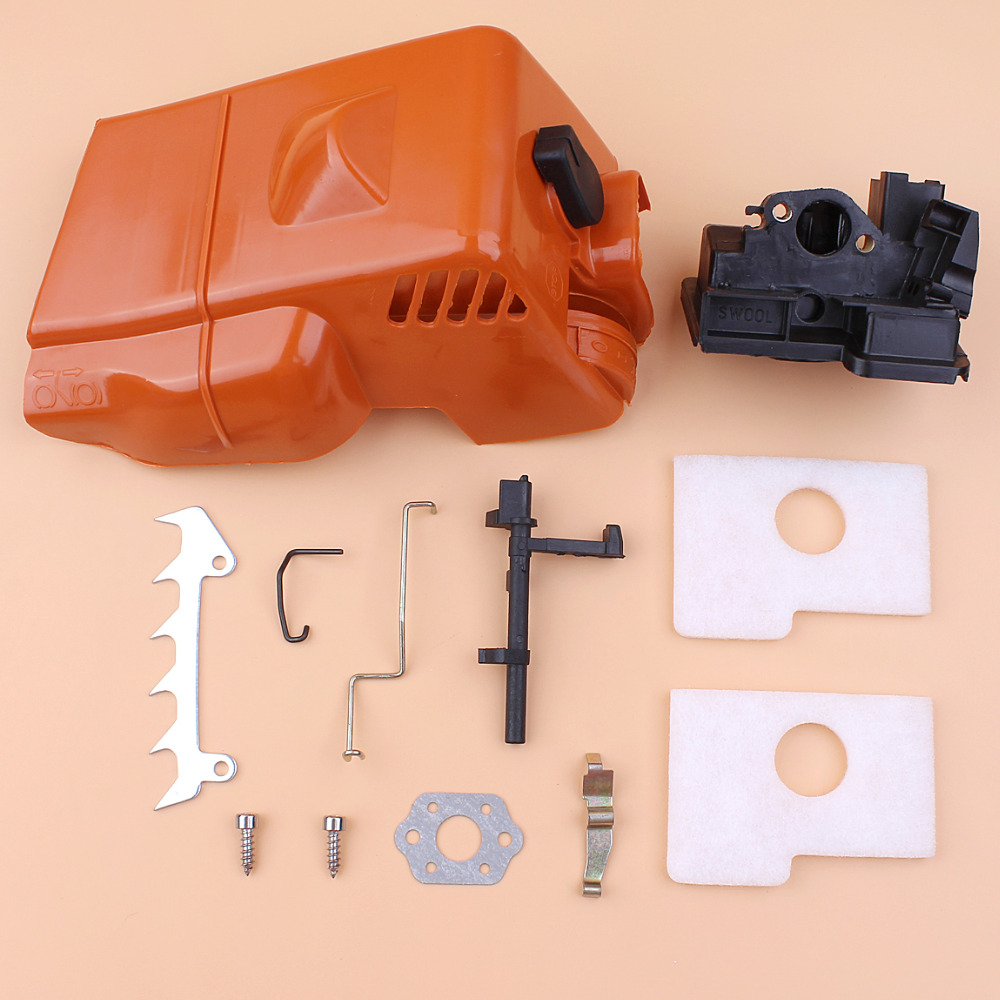 Top Cover Air Filter Bumper Spike Shaft Rod Kit Fit Stihl MS180 MS170 018 017 MS 180 Spare Parts Gasoline Chainsaw Chain Saw