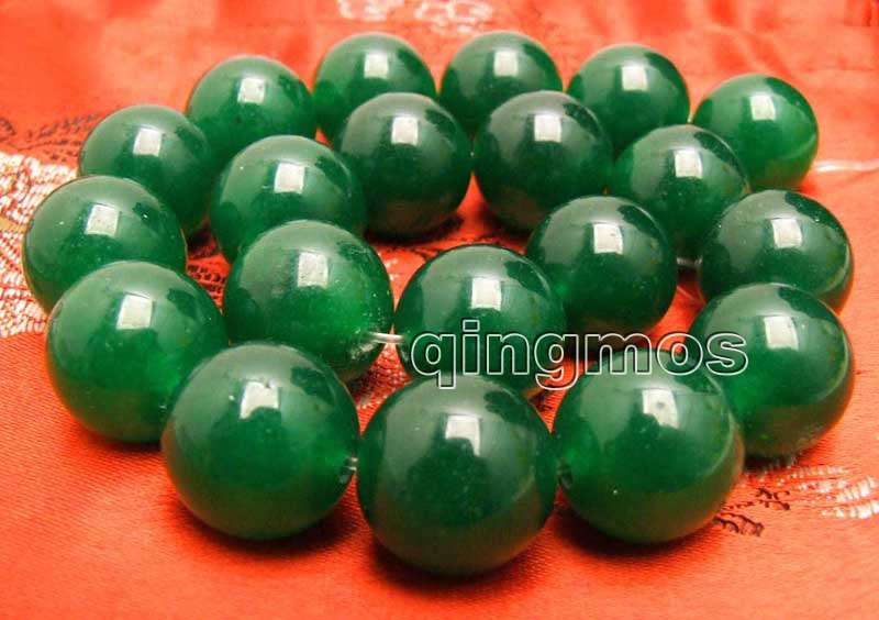 Big 20mm Green Round Natural beads Loose Beads strand 15'' for jewelry making-los744