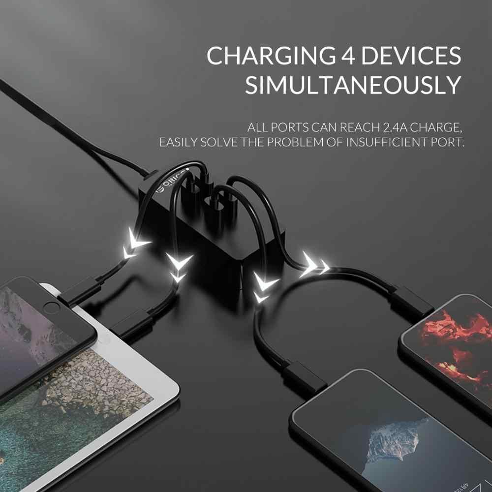 Orico Mini Smart Charger 4 Port USB Charger 5V2. 4A * 4 Max Output 20W Desktop Charger untuk Perjalanan Kantor Rumah Pengisian Perangkat USB