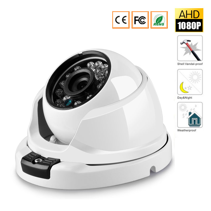 HD 1080P Security Camera 2MP AHD Surveillance Camera Metal Dome Infrared 20M Night Vision Vandalproof CCTV Camera