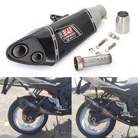 Moto rcycle Глушитель Трубы из углеродного волокна для kawasaki Yoshimura R11 выхлопных газов echappement moto z800 R3 gsxr750 gsxr600 Slip On