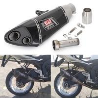 Motorcycle Exhaust Muffler Pipe Carbon Fiber For kawasaki Yoshimura R11 Exhaust echappement moto z800 R3 gsxr750 gsxr600 Slip On