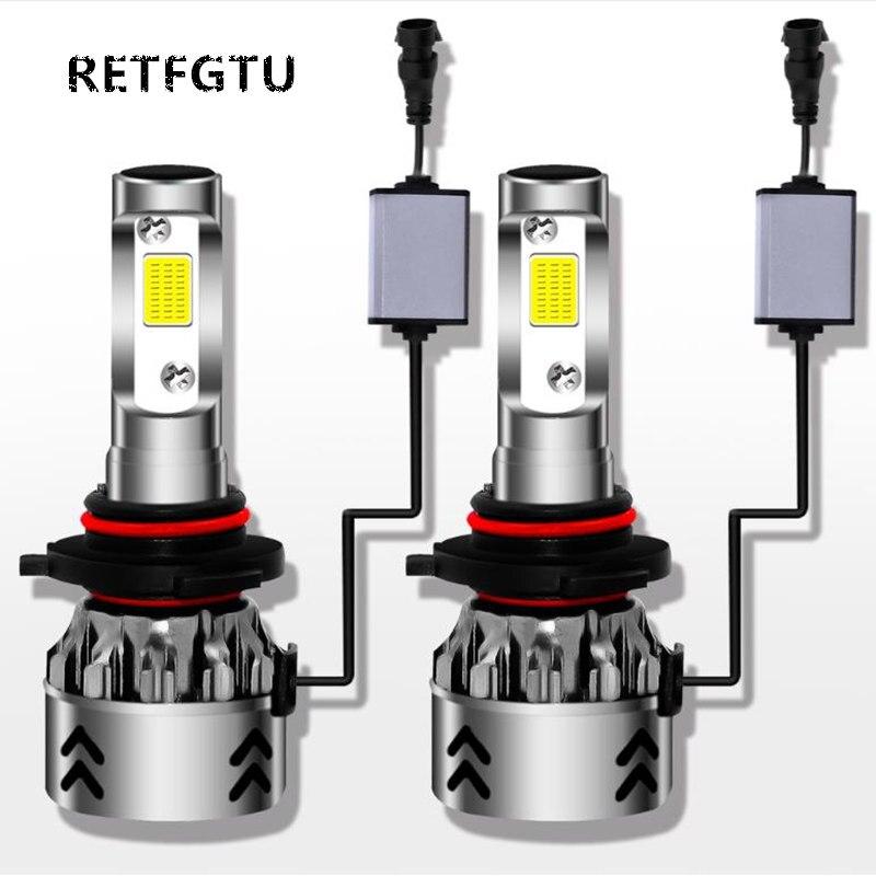 RETFGTU 2 pièces IP68 80 W 6000 K H11 9005 9006 9003 H1 H7 H4 880 HB3 Mini 6 phare LED pour voiture Phare