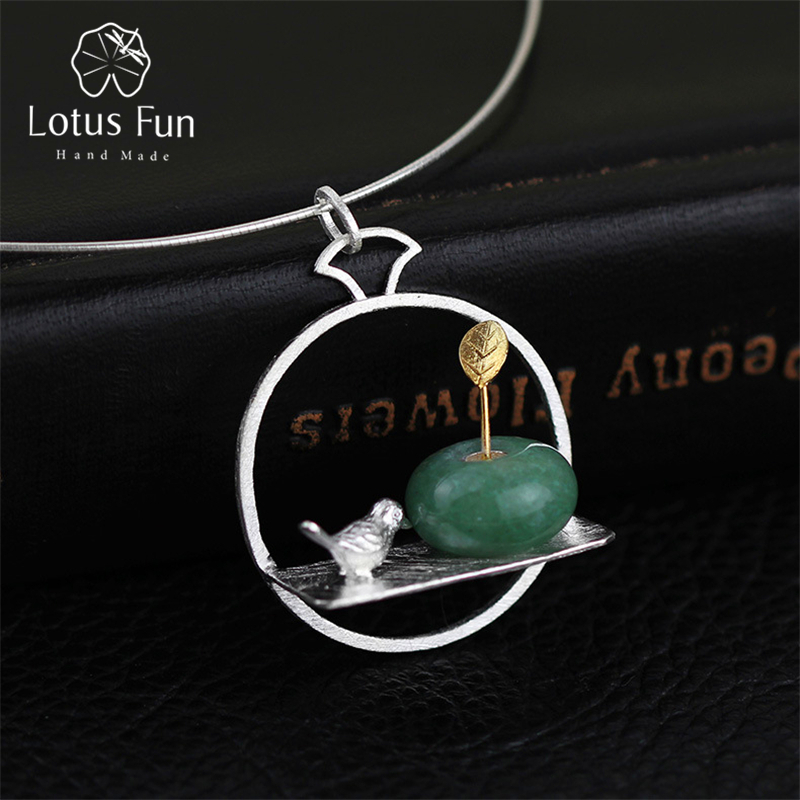 Lotus Fun Real 925 Sterling Silver Natural Stone Handmade Fine - Fine Jewelry