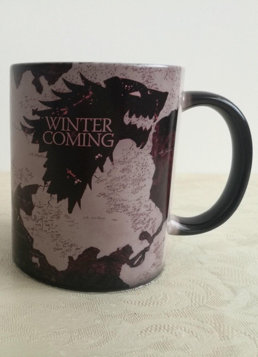 Original Game Of Thrones mugs heat changing color coffee mugs magic Tea mugen home decal kitchen porcelain tea beer travel