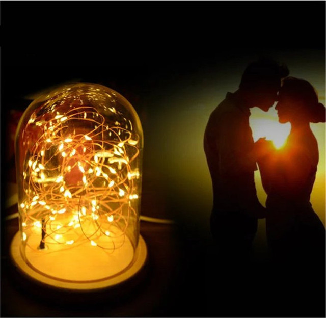 1x romantic table lamp with wooden base copper wire led string 1x romantic table lamp with wooden base copper wire led string light led nightlight greentooth Choice Image