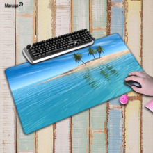 Mairuige Beach Palm Scenery Speed Version Large Gaming Mouse Pad Lock Edge Mousepad Keyboards Mat computer game tablet mousepad