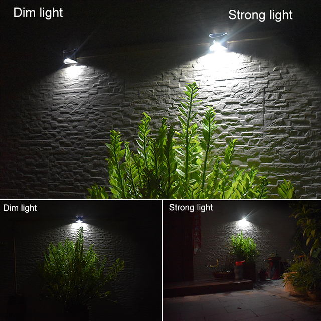 LED Solar Light PIR Motion Sensor Waterproof Outdoor Wall Lights Stainless Steel Shell Lighting For Garden Home Use New 6