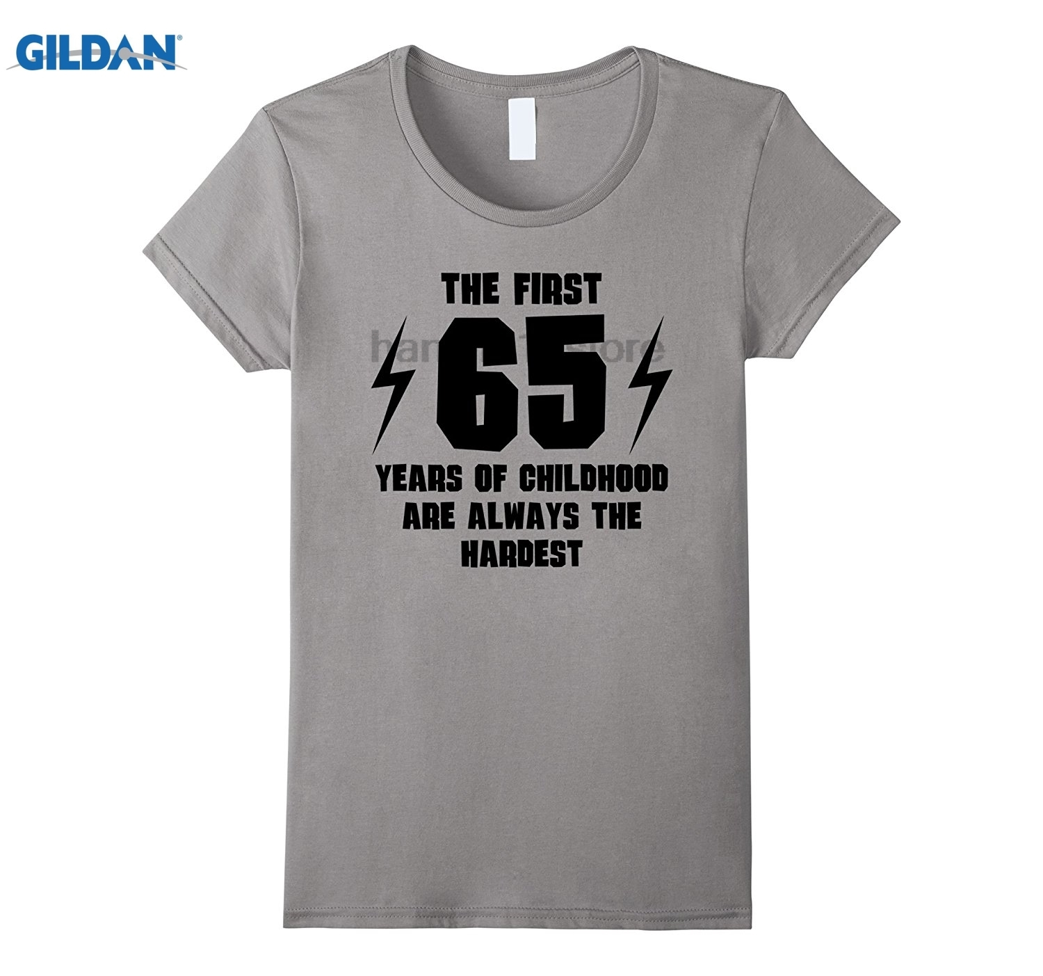 GILDAN The First 65 Years Of Childhood Funny 65th Birthday T Shirt