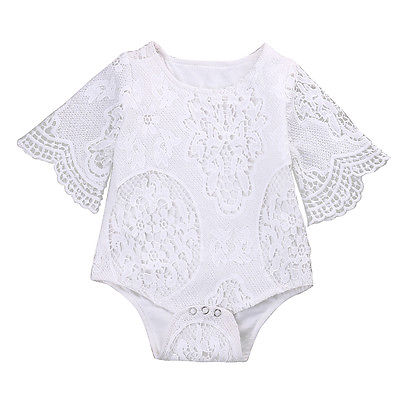Infant Baby Clothes Girl Lace Floral Romper Jumpsuit Outfits Sunsuit 2017 Summer Baby Girls Romper Cute Baby Girl Clothes newborn infant baby clothes girl lace strap floral romper jumpsuit headband 2pcs summer baby girl romper clothes baby onesie