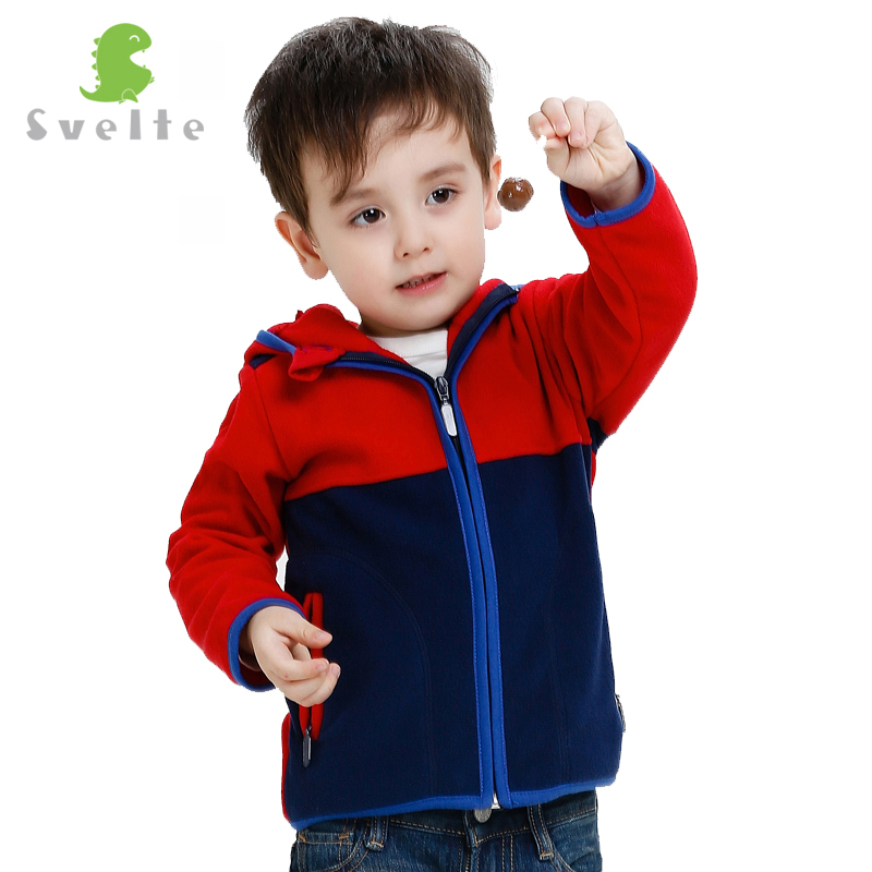 Svelte Brand Autumn Winter Boys Kids Collision Color Design Fur Coat Fleece hoodie Jacket Clothes Children Sweatshirts Jersey