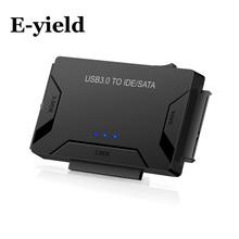 SATA Combo USB IDE adapter SATA dysk twardy SATA na USB3 0 konwerter transferu danych dla 2 5 3 5 5 25 napęd optyczny HDD SSD tanie tanio data cables Zdjęcie Ide kable E-yield