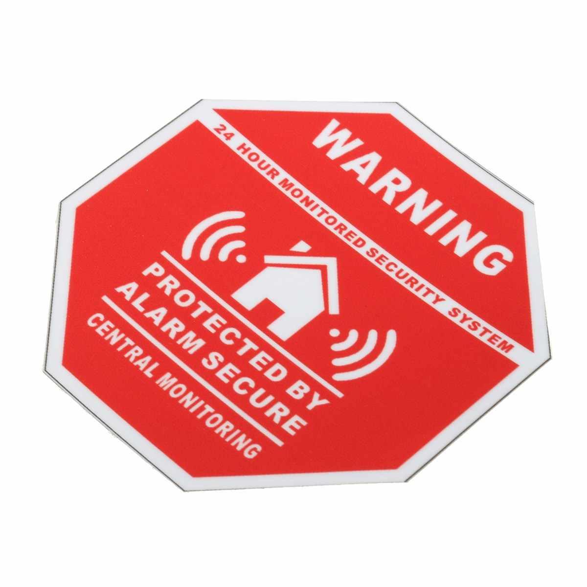 5 piezas de la Casa Hogar de alarma de seguridad de pegatinas/calcomanías signos para puertas y ventanas nuevo