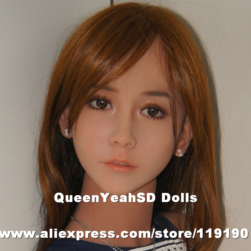 Top quality #85 brown skin sex doll head for artificial vagina doll, doll sex heads, oral sexy toys for man sisjuly brown 85