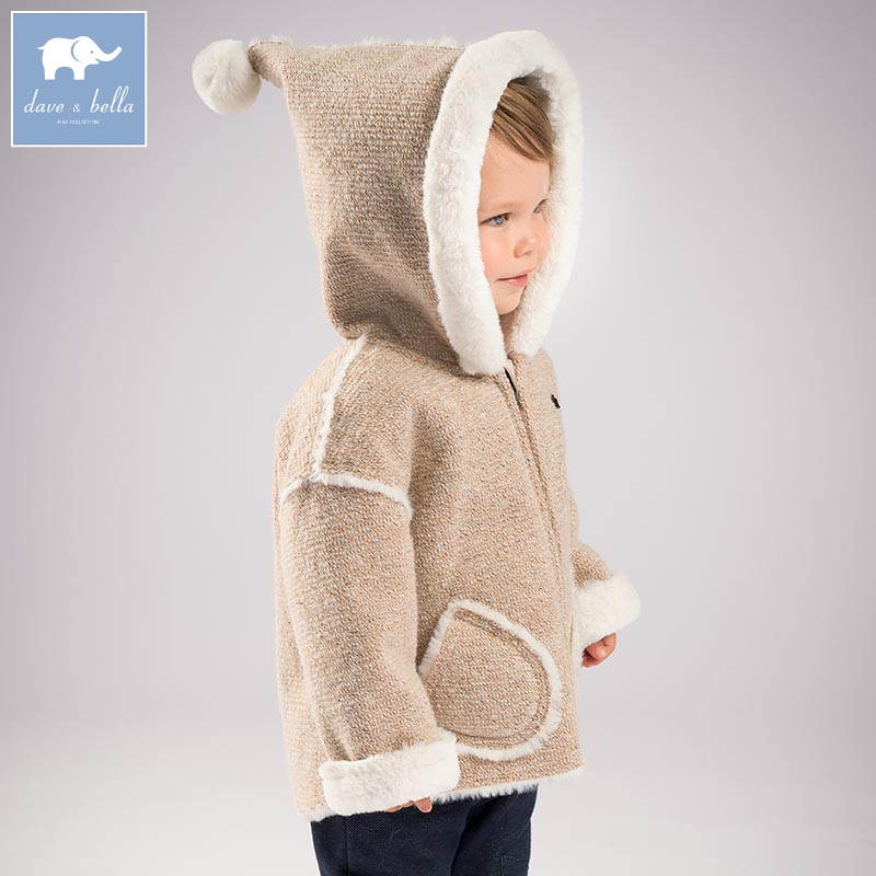 DB5610 dave bella winter infant baby boys fashion Jackets toddler Hooded outerwear children cute hight quality clothes самсунг 5610 в луганске
