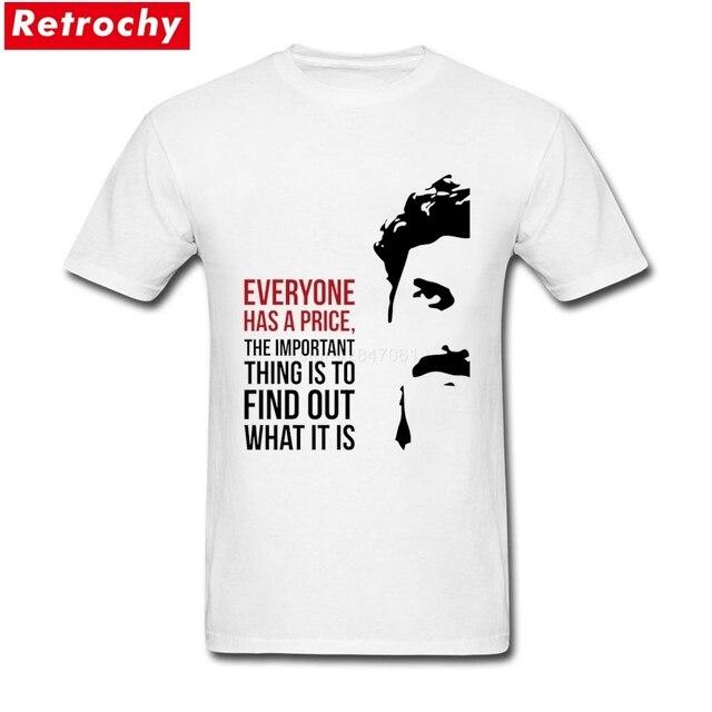Popolare Escobar Uomini Ognuno Pablo Ha Un Prezzo Maglietta Tee K1FJlcT3