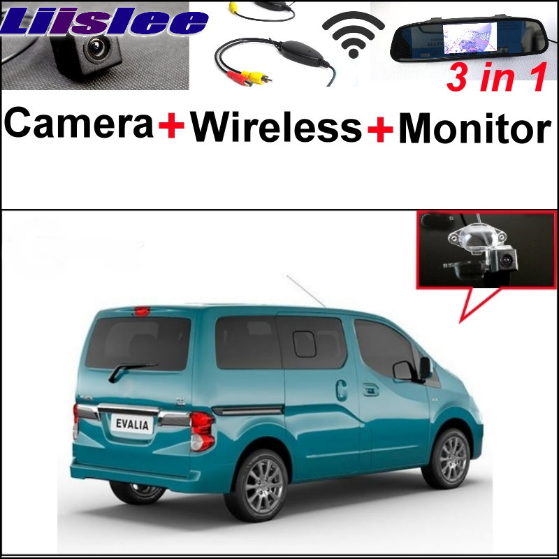 Liislee 3 in1 Rear View Special Camera + Mirror Monitor Easy Back Up Parking System For Nissan NV200 Evalia Wireless Receiver liislee 3 in1 rear view special camera mirror monitor easy back up parking system for nissan nv200 evalia wireless receiver
