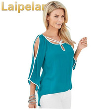 Laipelar Women  Casual Chiffon Blouse Shirt Tops Summer Blusas Femininas Shirts 2018 New Fashion Top