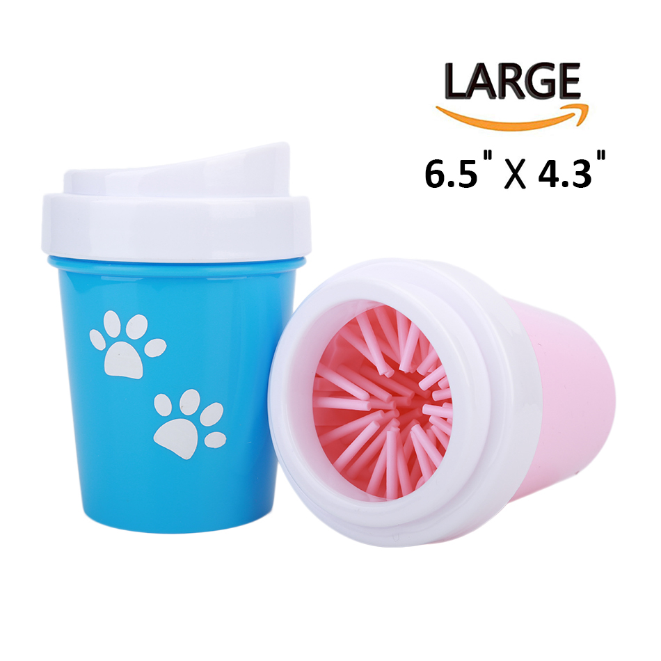 Dirty Paw Washer for Small Large Dogs Pet Feet Washer Portable Pet Dog Dirty Paw Cleaning Cup Muddy Dog Cat Grooming Brushes