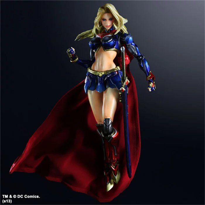 Play Arts 25cm Supergirl Super Hero Action Figure Toys