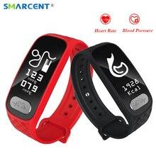 Smarcent B20 ЭКГ сердечного ритма артериального давления Smart Band Bluetooth Фитнес Браслет Смарт часы для iOS и Android