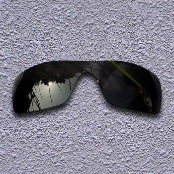 Black Polarized Replacement Lenses for Oakley For Oakley Batwolf Sunglasses
