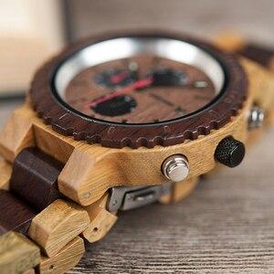 Image 3 - Relogio masculino BOBO VOGEL Uhr Männer Top Luxus Marke Holz Uhren Chronograph Quarz Uhren männer Geschenke Drop Verschiffen