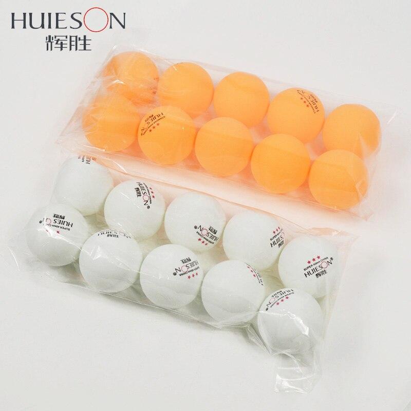 Huieson 10pcs 3-Star D40+ New Material Table Tennis Balls 2.9g ABS Plastic Ping Pong Balls Professional Training Balls