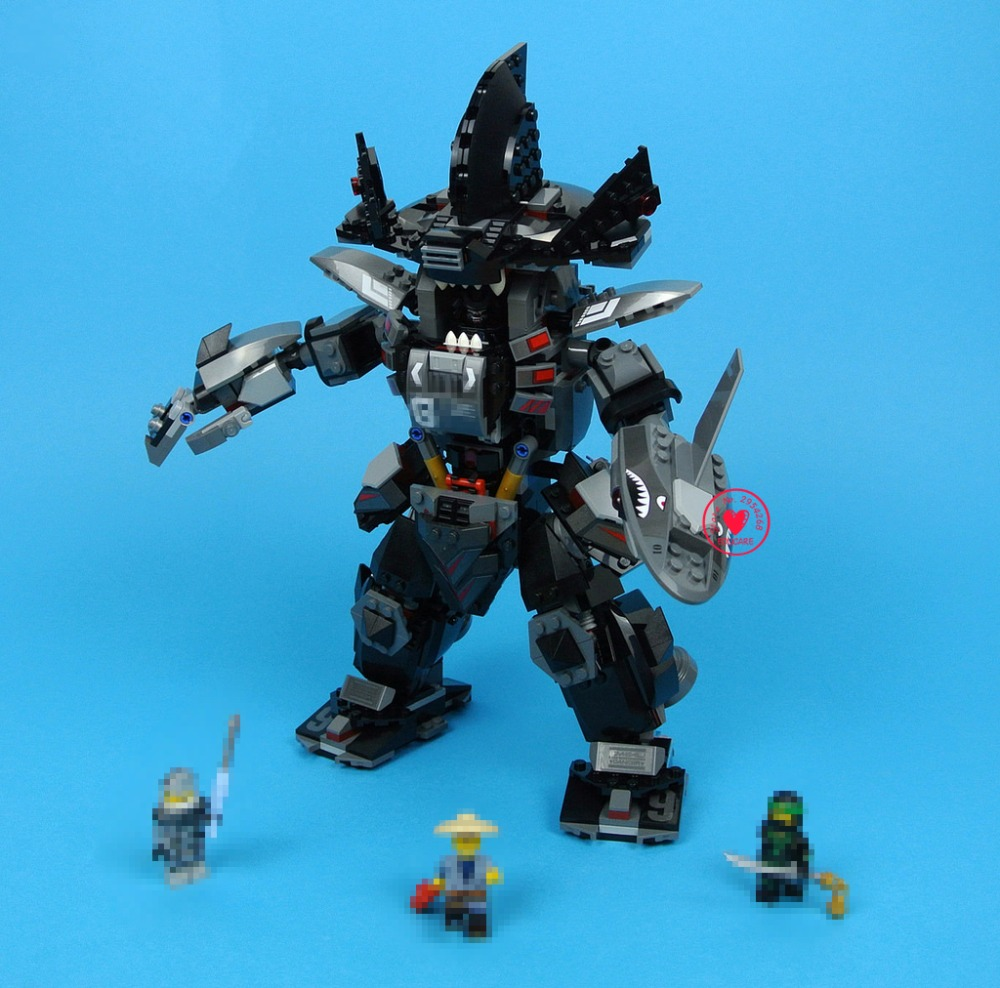 New Ninja Movie Garma Mecha Man Dark Devil Garmadon Lloyd Building Blocks Bricks 70613 Compatible legoes gift kid set ninja Toys dhl new lepin 06039 1351pcs ninja samurai x desert cave chaos nya lloyd pythor building bricks blocks toys compatible 70596