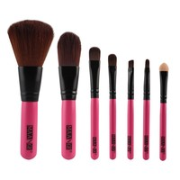 Professional Goat Hair 7Pcs Makeup Brush Set Tools Cosmetic Make Up Brush Set With Box