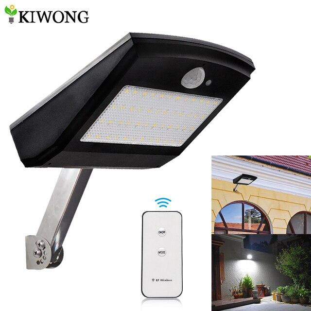 900lm Solar Lights Outdoor Wireless 48 Led Adjule Angle Motion Sensor Light Security Lighting Lamp For Garden Wall Yard