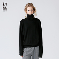 Toyouth Women Autumn 2017 New Arrival Sweater Casual Loose Long Sleeve Turtle Neck Casual Loose Female