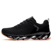 san francisco d9def eef8a 2018 zapatos de los hombres correr deporte adulto negro fresco otoño  transpirable verano entrenadores deporte Springblade zapato.