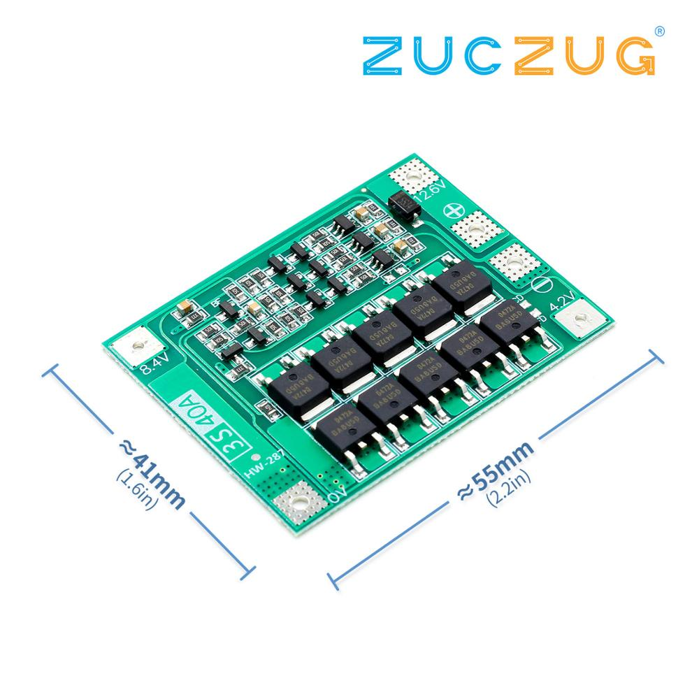 3S 40A Li-ion Lithium Battery Charger Lipo Cell Module PCB BMS Protection Board For Drill Motor 12.6V with Balance image