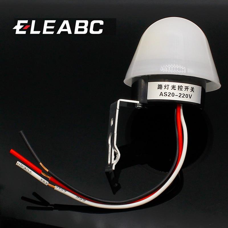 Автоматический автоматический выключатель фотоэлемента, переключатель уличного света постоянного тока, 220 В, 50-60 Гц, 10 А