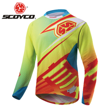 SCOYCO Motocross Shirt Motorcycle Jacket Off-road T-shirt Ride Bicycle Long-sleeve Shirt Motocross Jersey Moto Jersey Jaqueta