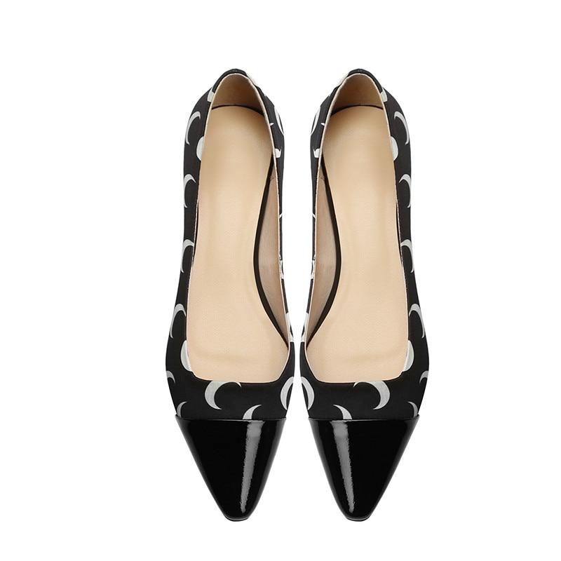 Vache Pour Asumer Chaussures Décontracté Peu Femmes Printemps Cuir pourpre Talons Noir Femme Synthétique 2019 En De Bas Profonde Nouveau q7rBHwI7