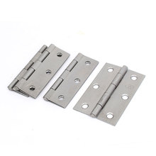 UXCELL Cabinet Drawer Foldable Iron Door Butt Hinge Silver Gray 3″ Length 4Pcs