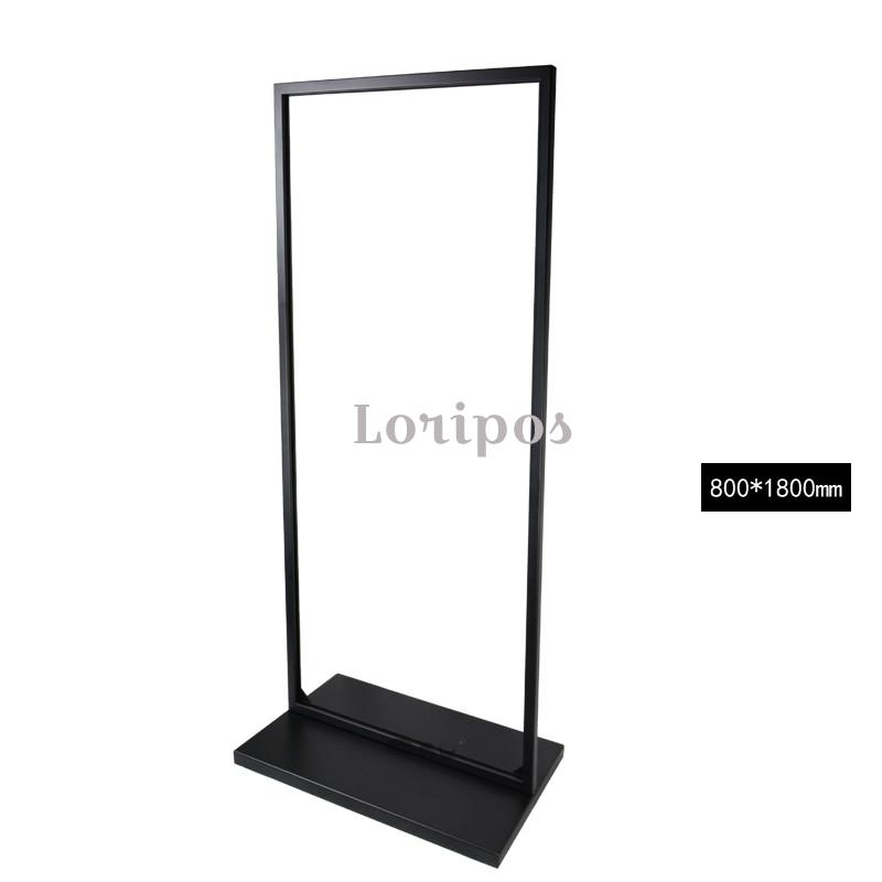 Loripos Schwarz Metall Boden Plakatständer Eisen Doppelseitige ...