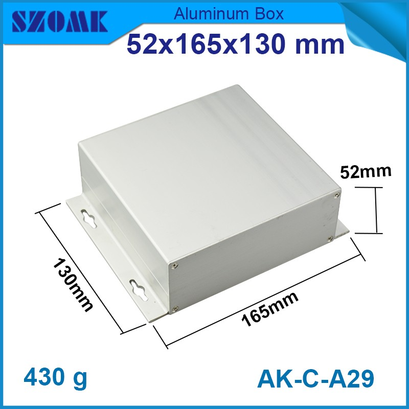 10 pcs/lot extruded aluminum project electronic project box 52*165*130mm custom project diy aluminum boxes 152 44 130 mm wxhxl aluminum extruded electronic housing box as per customer s drawing