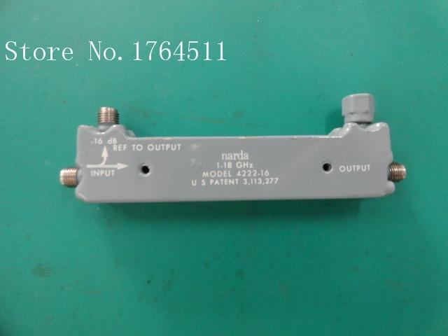 [BELLA] Narda 4222-16 1-18GHZ -16dB RF Directional Coupler SMA