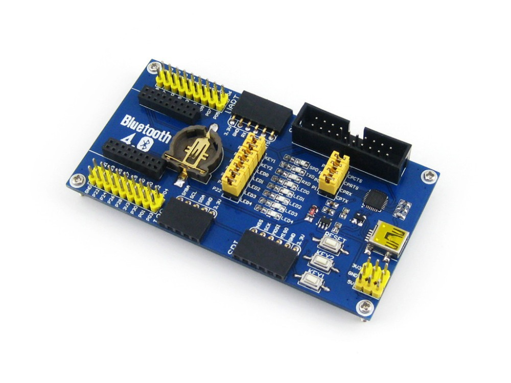 цена на Waveshare BLE400 BLE4.0 Bluetooth Module 2.4G Mother Board for Core51822provides I/O expansion connectors and various interfaces