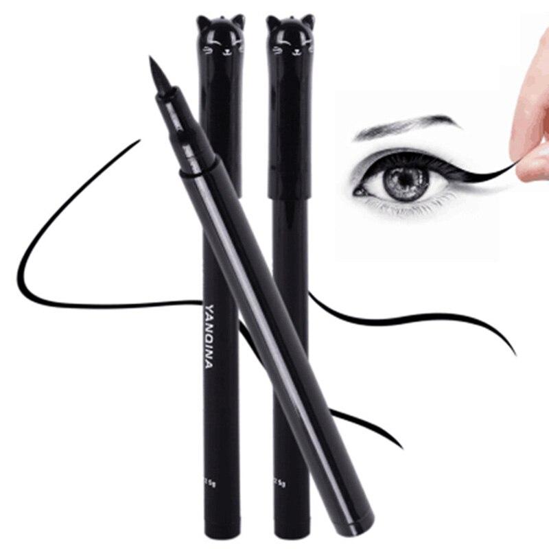 1Pc NEW Cat Style Long-lasting Waterproof Black Eyeliner Liquid Eye Liner Pen Pencil Easy To Makeup Fashion Beauty Cosmetic Tool
