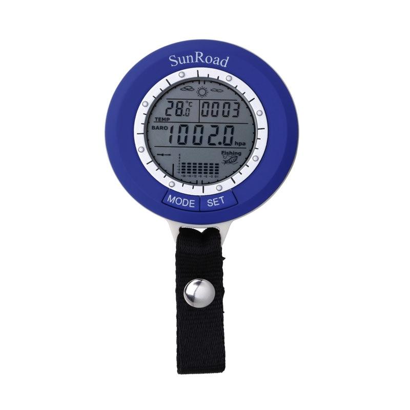 Mini Fishing Barometer Multifunction LED Digital Outdoor Fishing Barometer Altimeter Thermometer Weather Forecast Fish Finder