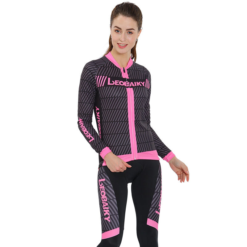 2018 Brand Pro Cycling Jersey Sets Long Sleeve Jacket MTB Bike Clothing Riding Bicycle Wear Skinsuit Women Cycling Clothes