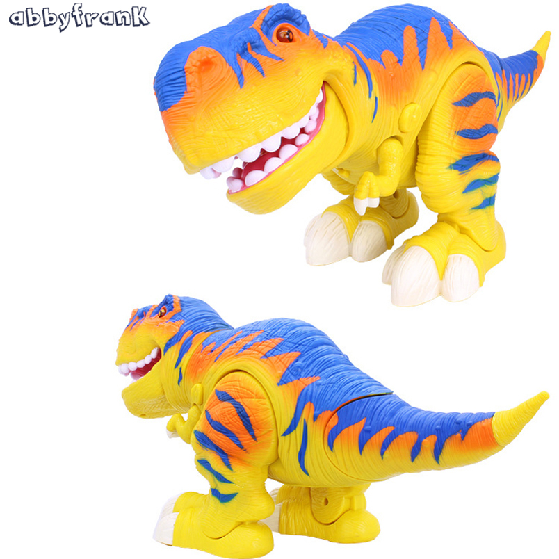 Abbyfrank 40 CM Electric Dinosaur Remote Control Infrared Model Active Joint Tyrannosaurus Rex Lighting Sound Toy For Children big one simulation animal toy model dinosaur tyrannosaurus rex model scene